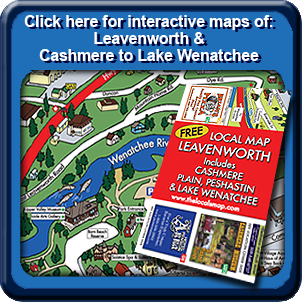 The Locals Map   A Travel Map of Leavenworth, WA   for Tourists